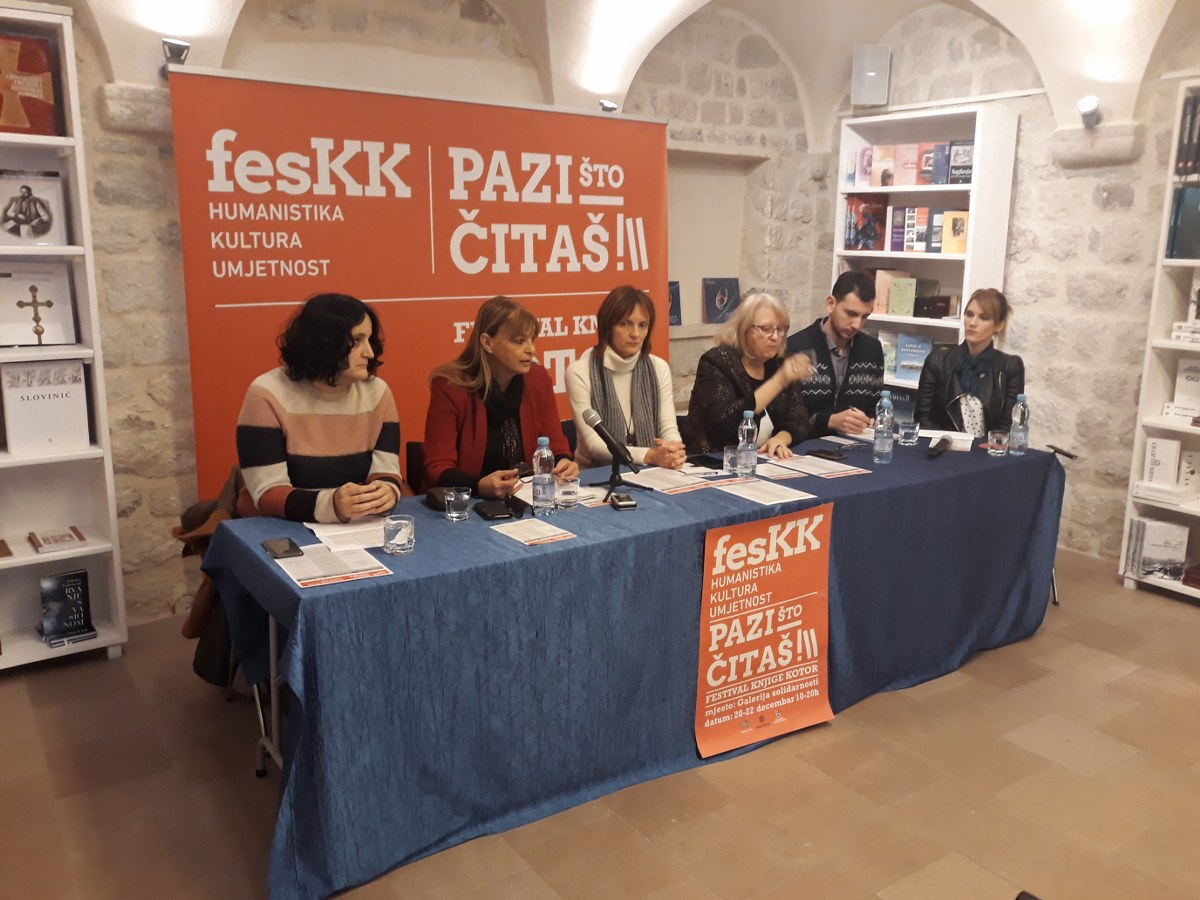 Prvi festival knjiga – humanistike, kulture i umjetnosti u Crnoj Gori – FesK Kotor - Pres konferencija