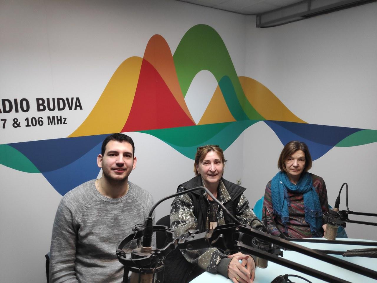 "Dušan Medin i Dragana Lalošević predstavili OJU ""Muzeji"" Kotor na Radiju Budva"