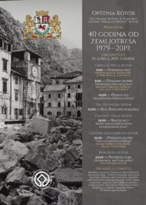Bogat program povodom obilježavanja 40 godina od zemljotresa u Kotoru (1979–2019)