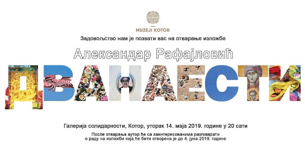 """Najava otvaranja izložbe """"Dvanaesti"""" autora Aleksandra Rafajlovića u Galeriji solidarnosti"""