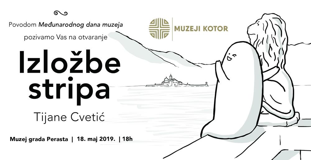 Najava otvaranja izložbe stripa Tijane Cvetić u Muzeju grada Perasta