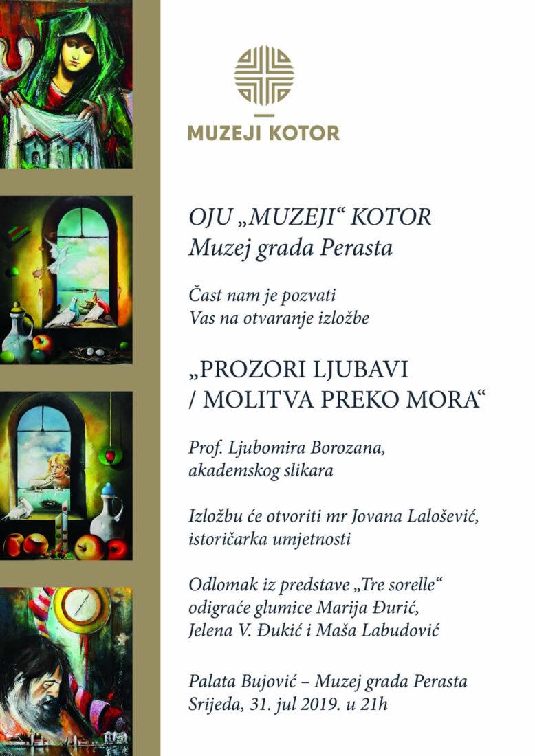 Najava otvaranja izložbe prof. Ljubomira Borozana