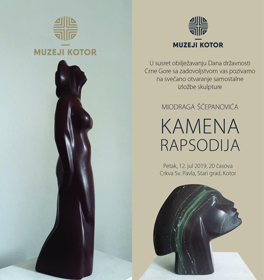Izložba skulptura autora Miodraga Šćepanovića