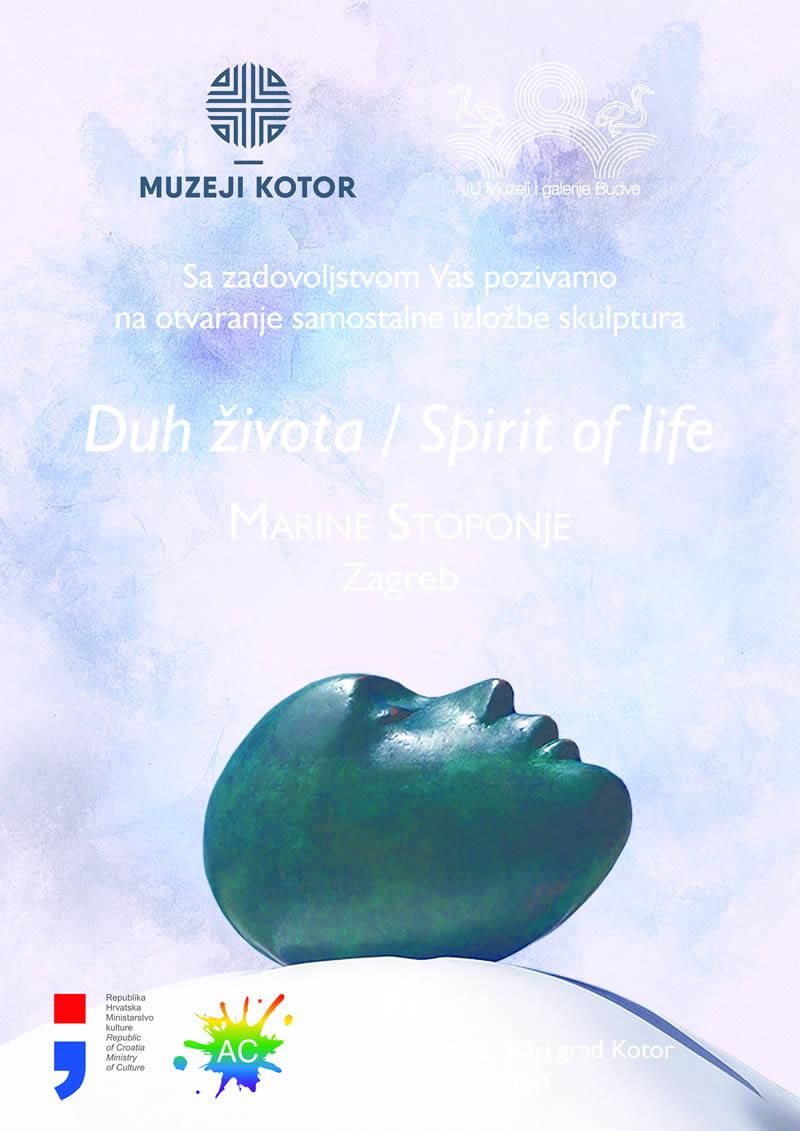 """Najava izložbe skulptura """"Duh života"""" autorke Marine Stoponje"""