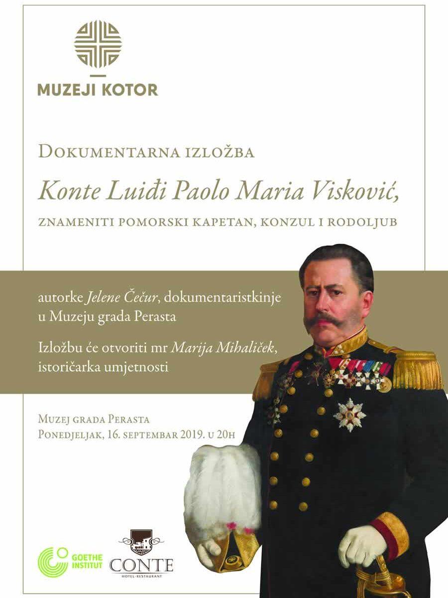 "Najava otvaranja dokumentarne izložbe ""Konte Luiđi Paolo Marija Visković (1828-1891)"