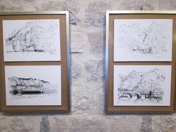 """Izložba crteža """"Kotorski mostovi"""" Veljka Mihajlovića"""
